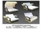 0952 QA 0908 BEACH Outdoor Sofa Bed
